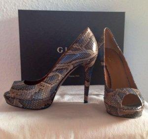 Neu! Gucci Python Schlangenschuhe Pumps High Heels 37,5