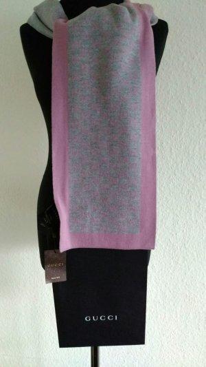 Gucci Woolen Scarf light grey-light pink wool