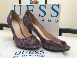 NEU Guess Peeptoes in lila Schlangenleder Optik + Beutel & Karton