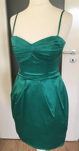NEU H&M Abend Kleid XS 34 Grün Cocktail Hochzeit Ballkleid Party Minikleid