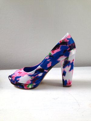 Neu! H&M Batik Heels Pumps Blockabsatz Gr. 36