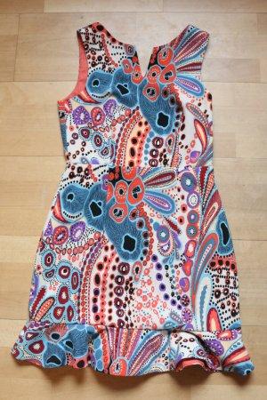 Neu! H&M Buntes Kleid mit Rückenausschnitt siebziger 70er Jahre style