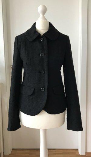 H&M Wool Blazer black mixture fibre