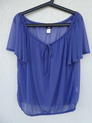 NEU – H&M – Damen Bluse transparent, blau-lila
