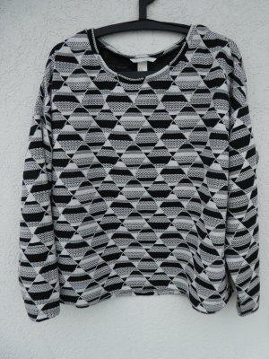 NEU - H&M - Damen Pullover, schwarz-weiß gemustert
