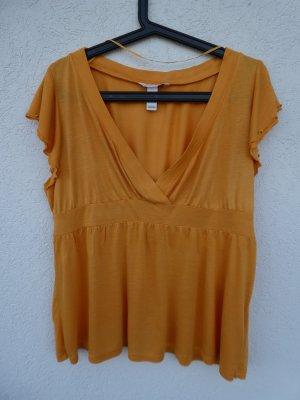 NEU - H&M – Damen T-Shirt, ockergelb