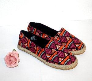 Neu H&M Espadrilles Gr. 37 Aztek Muster Pink Loafer