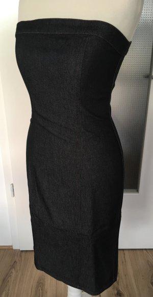 NEU H&M Etuikleid Jeanskleid Pencil Skirt Sommerkleid Schwarz XS 34 S 36 Denim Kleid