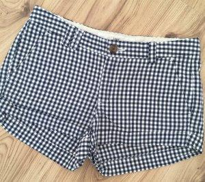 NEU H&M Karo Checked Shorts XS 34 Blau Weiß Maritim Hot Pants kurze Hose Gingham
