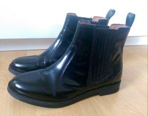 *NEU* H&M Leder Boots Stiefeletten Schwarz Boho Gr. 37 Ausverkauft