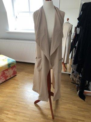 Neu! H&M Long Weste Jacke XS 32 34 Blogger nude