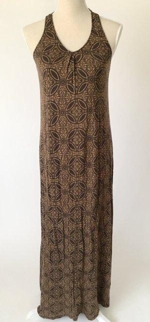 * neu * H&M Maxikleid Kleid Sommerkleid M 38 braun schwarz muster boho hippie sommer festival