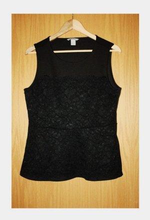 Neu H&M Oberteil Bluse Größe 42 Mode zum Fest schwarz