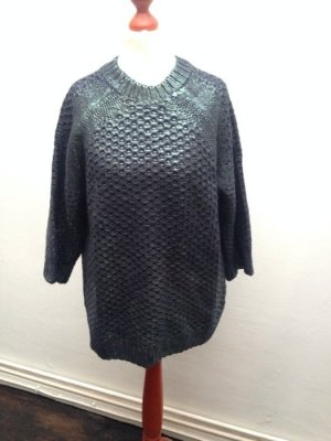 Neu! H&M Oversized Blogger Glanz Grobstrick Pullover Gr. XS 32 34