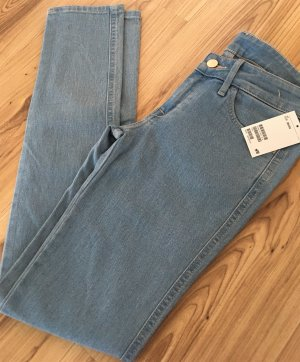 Neu H&M Röhren Jeans W25 L32 XS 32 34 Slim Fit Low Waist Hose Jeggings Hellblau