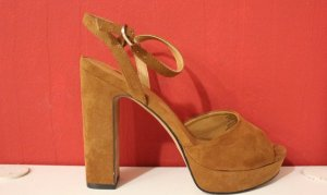 H&M High Heel Sandal brown suede