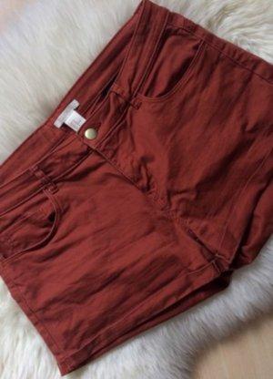 H&M Short en jean rouge carmin coton