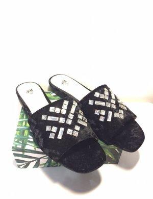 H&M Pantofola da casa nero
