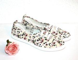 Neu H&M Sneaker Flower gr.37 Canvas Turnschuh Stoffschuh