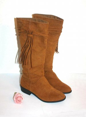 H&M High Boots cognac-coloured-brown