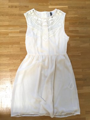 Neu! H&M Spitzen Lace Stickerei Blogger Kleid XS 32 34
