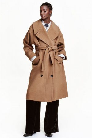 Neu! H&M Studio '16 Oversize Wollmantel Ausverkauft! Camel Blogger Clean Chic