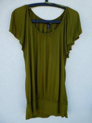 NEU – H&M – T-Shirt, olivgrün