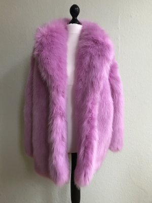 Neu! H&M Trend Blogge Fake Fur Jacke in Rosa, Mantel, Faux Fur