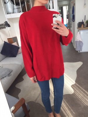 Neu! H&M Trend Oversize Turtleneck Pullover Rot Blogger Cosy Gr. M