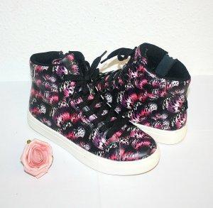 Neu H&M Turnschuh Sneaker Pink Schwarz Punk Gothik
