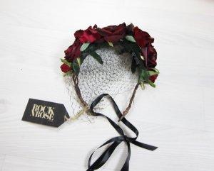 Accessorio per capelli nero-rosso scuro