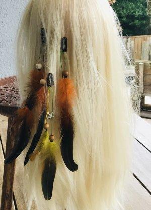 NEU Haarfedern Hippes Hairstyling Hippie Haarklammern Fotoshooting Haarclips Clips Klammern Indianer Kopfschmuck Indian Style Ethnostil Featherheads Haarschmuck Haare Festival Boho Feder Federn