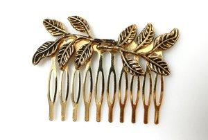 NEU Haarkamm Kamm Spange Haarspange Blätter Blumen gold metallic Haarschmuck Hochzeit Fest Brautschmuck vintage boho