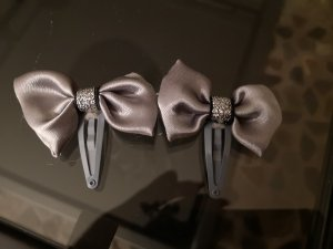 Bijou Brigitte Hair Clip silver-colored-grey