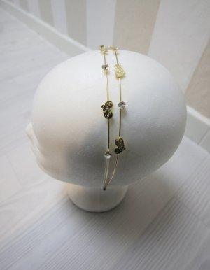 Cerchietto per capelli oro-argento