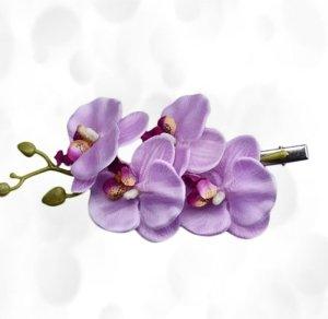 Bijoux pour la tête violet fibre synthétique