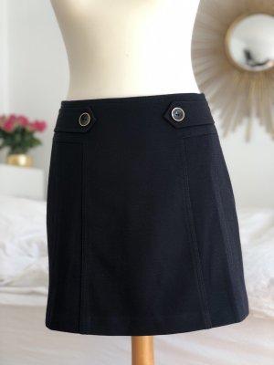 Hallhuber Wollen rok donkerblauw