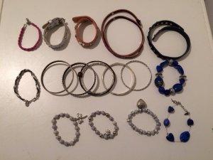Chain multicolored leather