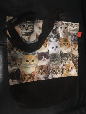 NEU/HANDARBEIT/UNIKAT - Katzen-Stofftasche