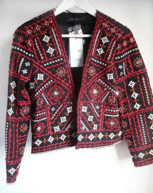 NEU: Handbestickte Boho Jacke. Kastig geschnitten. Von Zara Woman