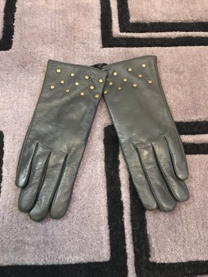 Leather Gloves anthracite leather