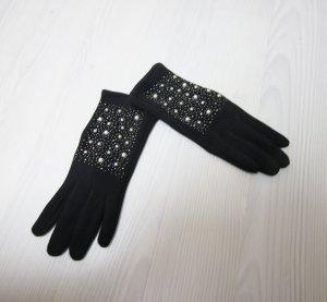 Vingerandschoenen zwart-wit