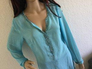 NEU!  Heine Bluse Tunika Sweatshirt Kleid in babyblau 36 38 M