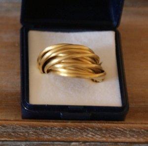Heine Anillo de plata color oro