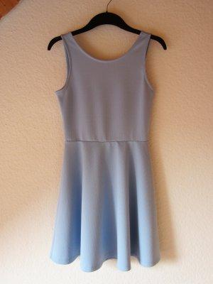 H&M Divided Cut Out Dress azure-light blue polyester