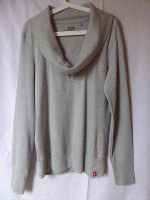 NEU: Hellgraues Sweatshirt mit Wasserfall-Ausschnitt von edc