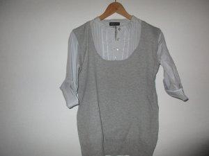 Neu Hemd Und Pullover hellgrau