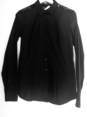 van Laack Shirt Blouse black cotton