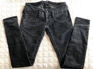 Herrlicher Pantalon taille basse gris foncé