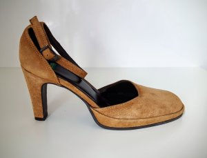 NEU! High Heel Sling Pumps aus Veloursleder